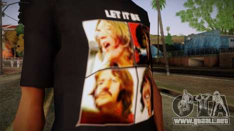 The Beatles Let It Be T-Shirt para GTA San Andreas tercera pantalla