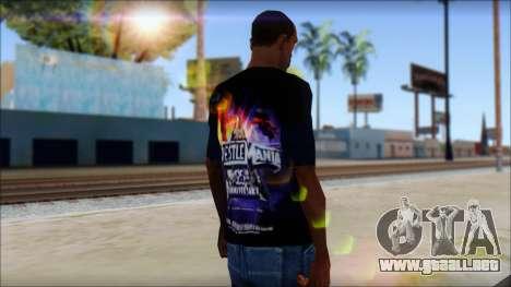 Wrestle Mania T-Shirt v1 para GTA San Andreas segunda pantalla