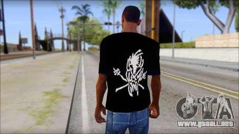 Metallica Logos T-Shirt para GTA San Andreas segunda pantalla