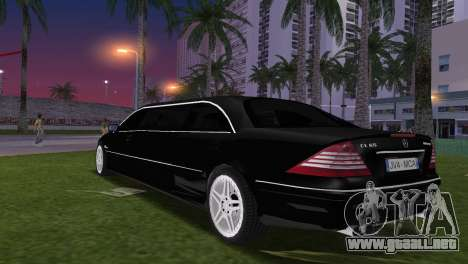 Mercede-Benz CL65 AMG Limousine para GTA Vice City left