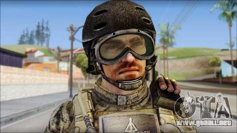 Forest SFOD from Soldier Front 2 para GTA San Andreas tercera pantalla