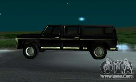 New FBI Rancher para GTA San Andreas vista posterior izquierda