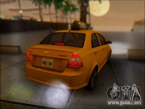 Chevrolet Aveo Taxi para la vista superior GTA San Andreas