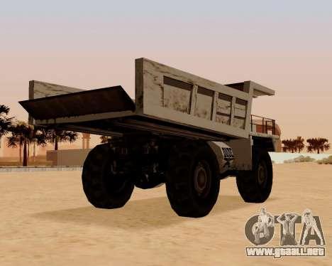 Actualizado Dumper para GTA San Andreas vista posterior izquierda