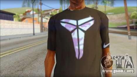 Kobie Shirt para GTA San Andreas tercera pantalla