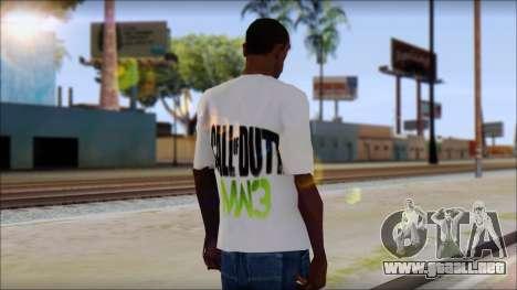 COD MW3 Fan T-Shirt para GTA San Andreas segunda pantalla