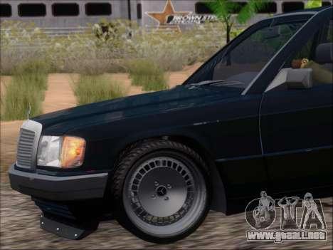 Mercedes Benz 190E Drift V8 para las ruedas de GTA San Andreas