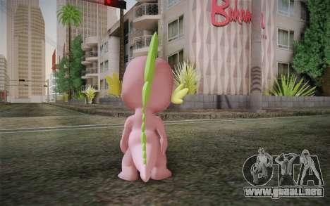 Spike from My Little Pony Friendship para GTA San Andreas segunda pantalla