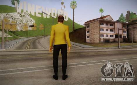 James T. Kirk From Star Trek para GTA San Andreas segunda pantalla
