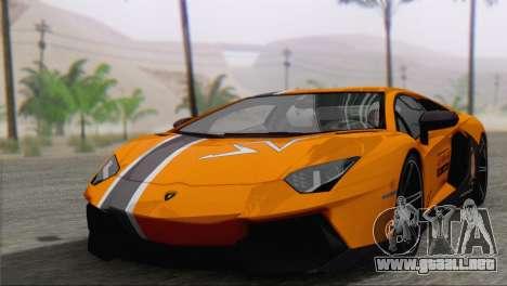 Lamborghini Aventador LP700-4 2012 para GTA San Andreas interior