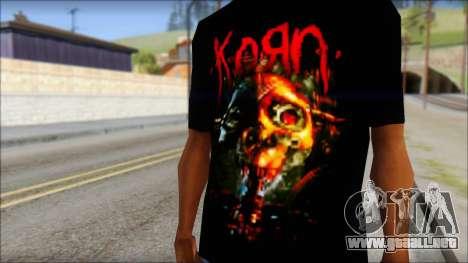 KoRn T-Shirt Mod para GTA San Andreas tercera pantalla