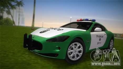 Maserati Granturismo Police para GTA Vice City