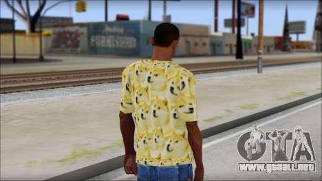 Doge T-Shirt para GTA San Andreas segunda pantalla