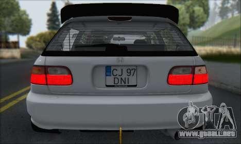 Honda Civic 1995 para el motor de GTA San Andreas