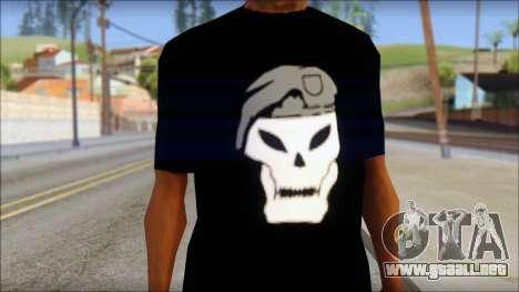 Black Ops T-Shirt para GTA San Andreas tercera pantalla