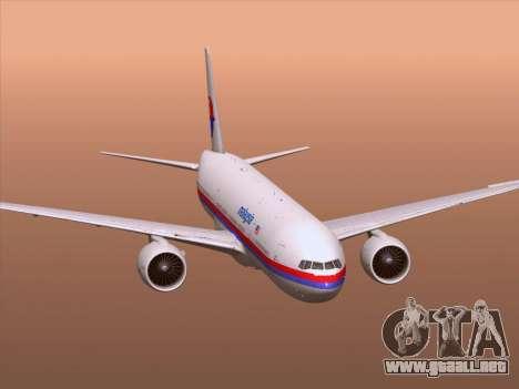 Boeing 777-2H6ER Malaysia Airlines para las ruedas de GTA San Andreas