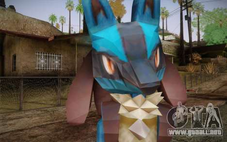 Lucario from Pokemon para GTA San Andreas tercera pantalla