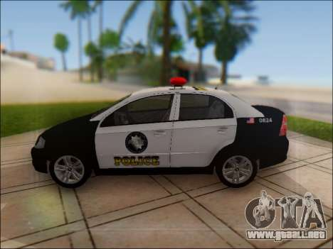 Chevrolet Aveo Police para GTA San Andreas left