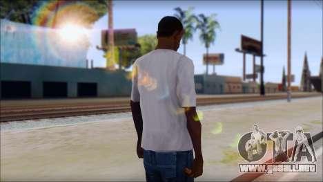 CM Punk T-Shirt para GTA San Andreas segunda pantalla