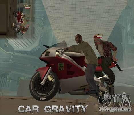 Car Grav Hack para GTA San Andreas