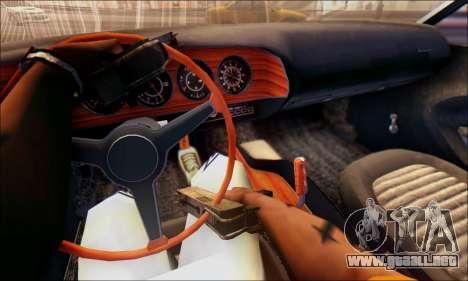 Plymouth Cuda 1970 Stock para GTA San Andreas vista posterior izquierda