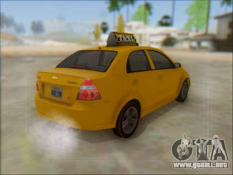 Chevrolet Aveo Taxi para vista lateral GTA San Andreas