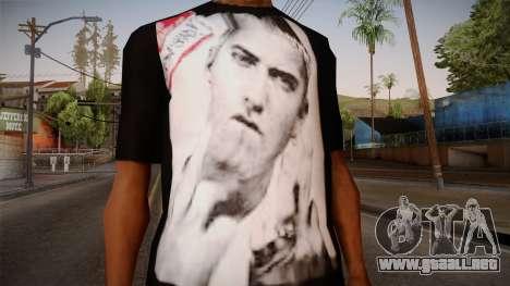 Eminem Fuck Off T-Shirt para GTA San Andreas tercera pantalla