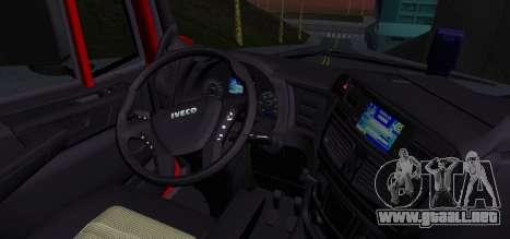 Iveco Stralis HI-ROAD para GTA San Andreas vista posterior izquierda
