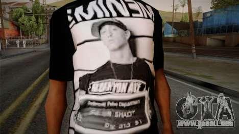 Eminem T-Shirt para GTA San Andreas tercera pantalla