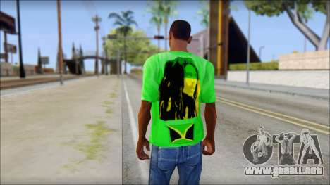 Bob Marley Jamaica T-Shirt para GTA San Andreas segunda pantalla