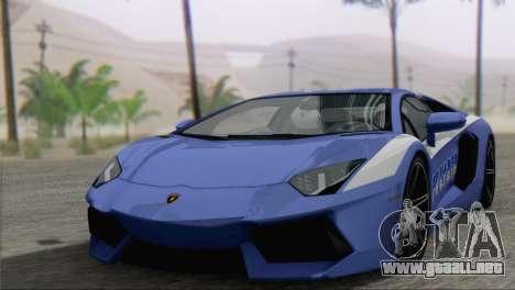 Lamborghini Aventador LP700-4 2012 para el motor de GTA San Andreas