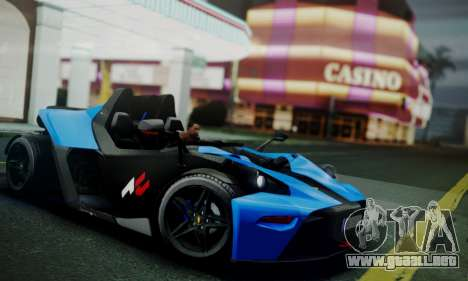 KTM X-Bow R 2011 para GTA San Andreas left