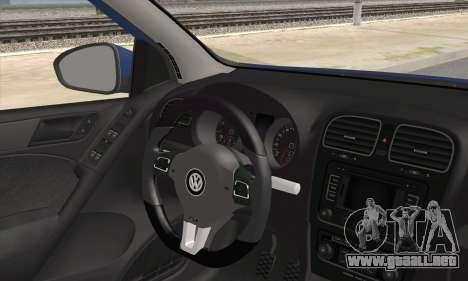 Volkswagen Golf Mk6 2010 para GTA San Andreas vista posterior izquierda