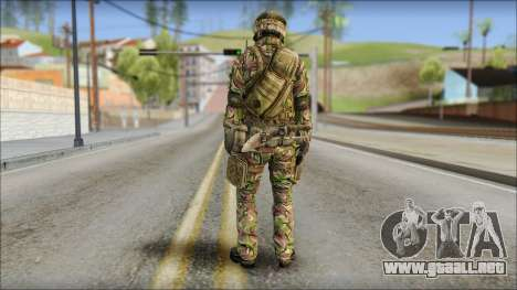 Forest SAS from Soldier Front 2 para GTA San Andreas segunda pantalla