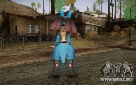Lucario from Pokemon para GTA San Andreas segunda pantalla