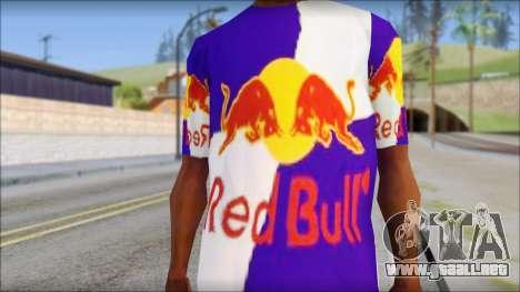 Red Bull T-Shirt para GTA San Andreas tercera pantalla