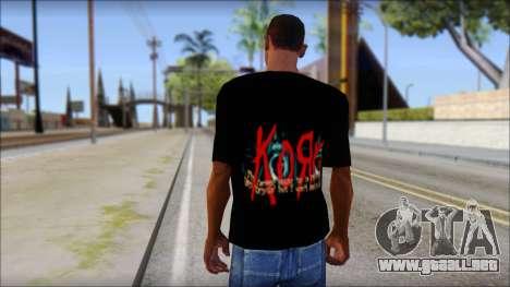 KoRn T-Shirt Mod para GTA San Andreas segunda pantalla