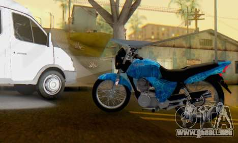 Yamaha YBR Blue Star para GTA San Andreas left