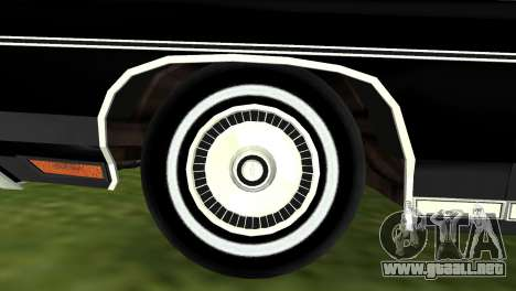 Chevrolet Caprice Classic 1973 para GTA Vice City visión correcta