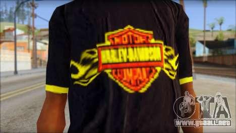 Harley Davidson T-Shirt para GTA San Andreas tercera pantalla
