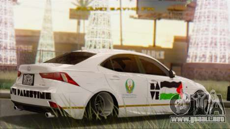 Lexus IS350 FSport 2014 Hellaflush para GTA San Andreas left