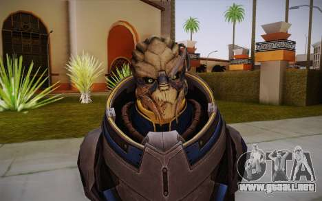 Garrus from Mass Effect 3 para GTA San Andreas tercera pantalla