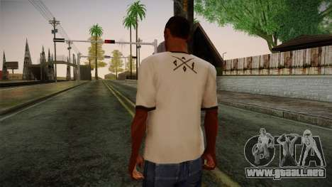Chucks Anon Family T-Shirt para GTA San Andreas segunda pantalla