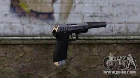 Silenced Combat Pistol from GTA 5 para GTA San Andreas segunda pantalla