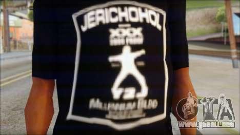 Chris Jericho Jerichohol T-Shirt para GTA San Andreas tercera pantalla