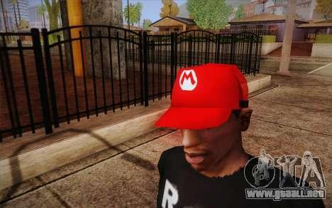 Super Mario Cap para GTA San Andreas tercera pantalla