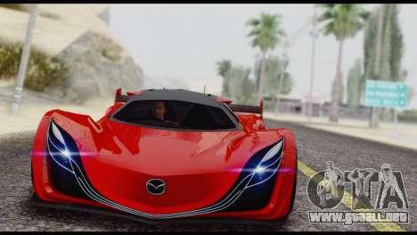 Mazda Furai 2008 para GTA San Andreas vista hacia atrás
