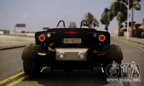 KTM X-Bow R 2011 para vista lateral GTA San Andreas