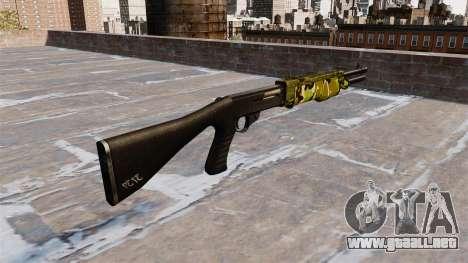 Ружье Franchi SPAS-12 Woodland para GTA 4 segundos de pantalla