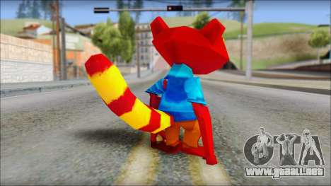 Chang the Firefox from Fur Fighters Playable para GTA San Andreas tercera pantalla